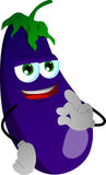 Eggplant gesturing okay sign Royalty Free Stock Photography