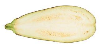 Eggplant half isolated Stock Images