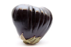 Eggplant in heart form. On white background Stock Photography
