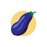 Eggplant icon. Eggplant color illustration. Vector icon. Graphic symbol. Image Isolated on white background. Aubergine drawing. Vegetable pictogram. Healthy Royalty Free Stock Photos
