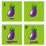 Eggplant illustrations Royalty Free Stock Image