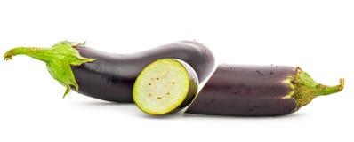 eggplant Isola??o em um fundo branco imagens de stock royalty free