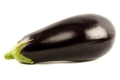 Eggplant Isolated with clipping path. On a white background Royalty Free Stock Image