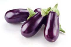 Eggplant isolated on white Royalty Free Stock Photo