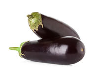 Eggplant isolated on white Royalty Free Stock Photography