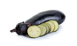 Eggplant isolated on the white background Stock Image