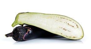 Eggplant isolated on the white background Stock Images