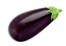 Eggplant isolated on white background, with clipping path Royalty Free Stock Images