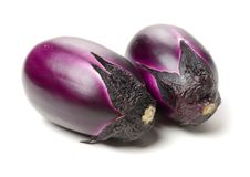 Eggplant. Isolated on a white background stock images