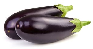 Eggplant isolated on white. Clipping Path stock images