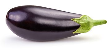 Eggplant isolated on white. Clipping Path stock photos
