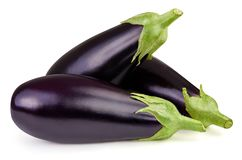Eggplant isolated on white. Clipping Path stock image