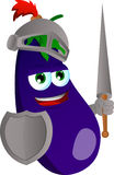 Eggplant knight Royalty Free Stock Photos