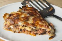 Eggplant lasagna with meat Stock Photos