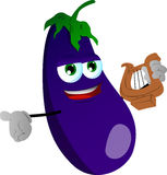 Eggplant with lyre Royalty Free Stock Images