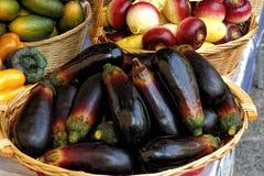 Eggplant in a market Stock Photos