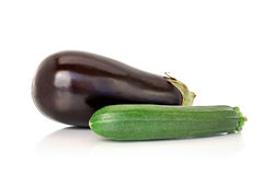 Eggplant and marrow royalty free stock image