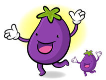 The Eggplant mascot has been welcomed with both hands. Vegetable Stock Photos