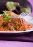 Eggplant meatballs. Royalty Free Stock Photos