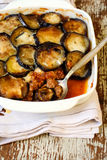 Eggplant and mince bake Royalty Free Stock Image