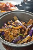 Eggplant minced pork Stock Images