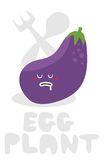 Eggplant monster. Stock Images