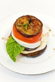 Eggplant Mozzarella Stacks Royalty Free Stock Image