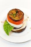 Eggplant Mozzarella Stacks Royalty Free Stock Image