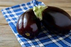 Eggplant on a napkin Royalty Free Stock Photos