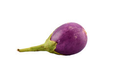 Eggplant. One eggplant on white background Stock Photos