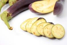 Eggplant over white background Stock Photos