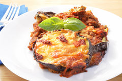 Eggplant parmesan Royalty Free Stock Photos