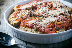 Eggplant parmesan Italian entree Royalty Free Stock Photos