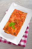 Eggplant Parmigiana. Royalty Free Stock Photography