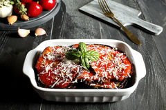 Eggplant parmigiana Stock Photography