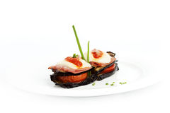 Eggplant parmigiana Royalty Free Stock Images