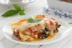 Eggplant parmigiano Royalty Free Stock Photos