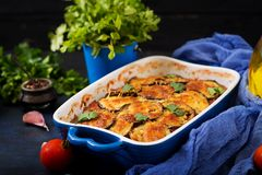 Eggplant Parmigiano - a traditional Italian dish Royalty Free Stock Photo