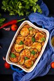 Eggplant Parmigiano eggplant casserole - a traditional Italian dish Royalty Free Stock Photos