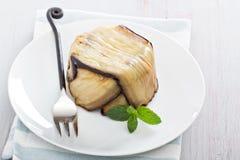 Eggplant pasta bake Stock Photo