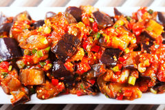 Eggplant, peppers and tomatoes appetizer Stock Image