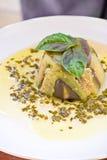 Eggplant pie Stock Images