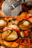Eggplant pizza Stock Image