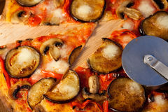 Eggplant pizza Stock Photo