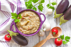 Eggplant puree Royalty Free Stock Image