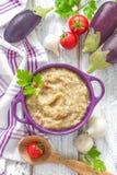 Eggplant puree Stock Images
