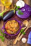 Eggplant puree Stock Image