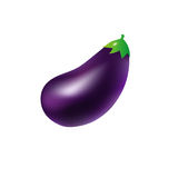 Eggplant. A purple eggplant isolated on a white background Royalty Free Stock Photo