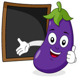 Eggplant & Recipe or Menu Blackboard royalty free stock photo
