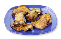 Eggplant Roll on dish Stock Photography